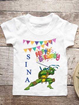 تیشرت تولد طرح لاکپشت های نینجا (کد۲)