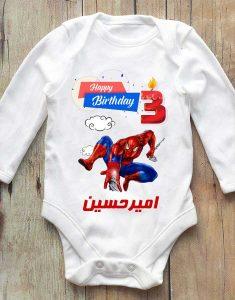 تیشرت تولد طرح مرد عنکبوتی