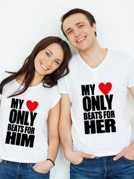 تیشرت ست عاشقانه طرح متن کد(۱)